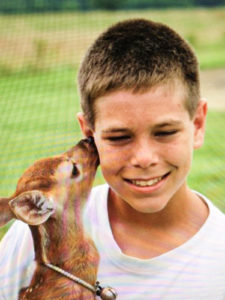 Stephen with our pet Deer, Eastern Shore Experience